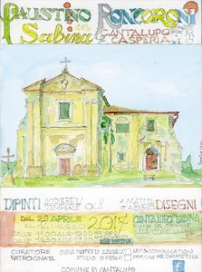 invito mostra Faustino Roncoroni in Sabina
