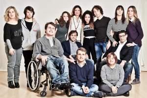 Daniela Alleruzzo con alcuni allievi accademia Larte-nel-cuore
