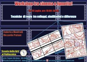 Locandina workshop cinema fumetto 18 19 luglio 2017