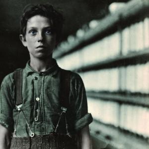"Jo Bodeon, a ""back-roper"" in mule room. Chase Cotton Mill, Burli"